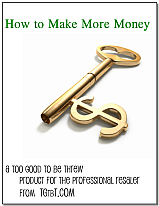 How to Make More Money from Too Good to be Threw, Products for the Professional Resaler